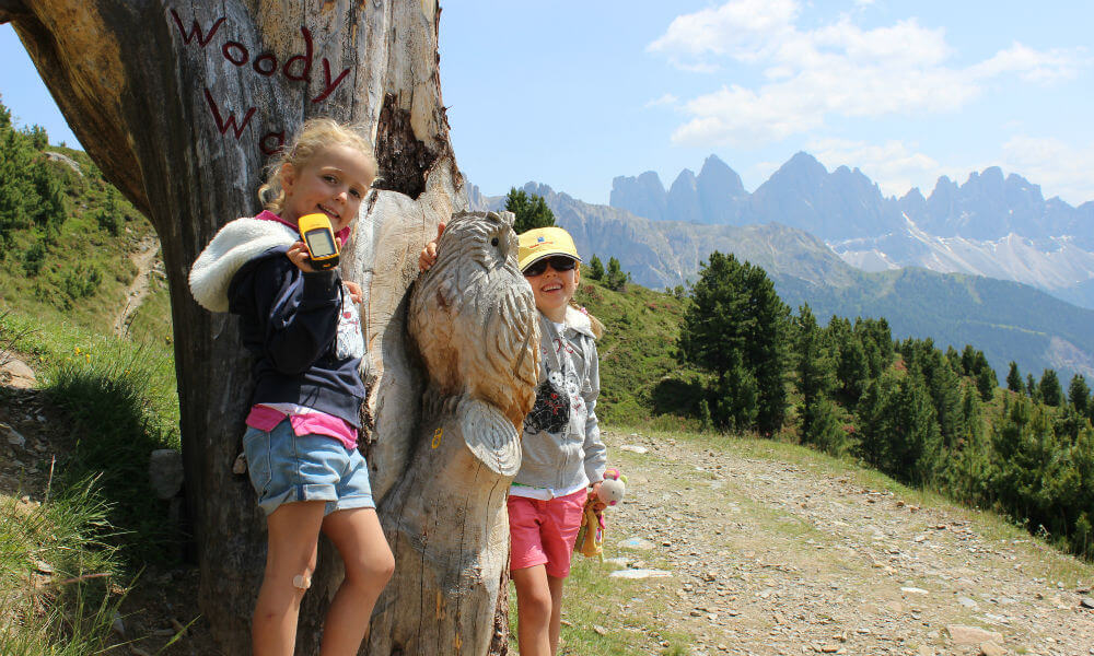 Geocaching in South Tyrol on Plose