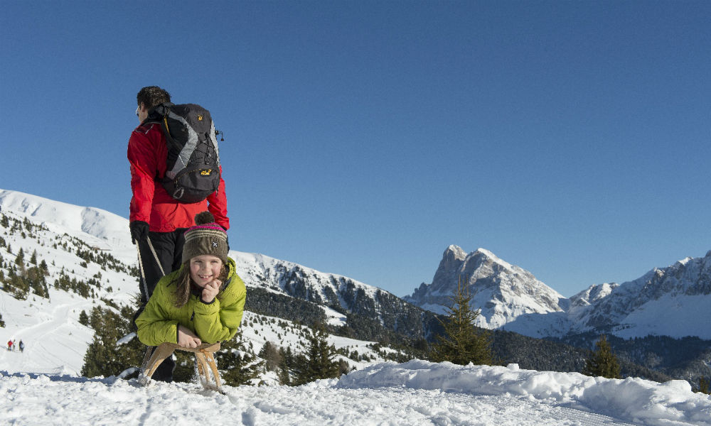 Tobogganing and hiking in one of the most beautiful winter destinations in South Tyrol