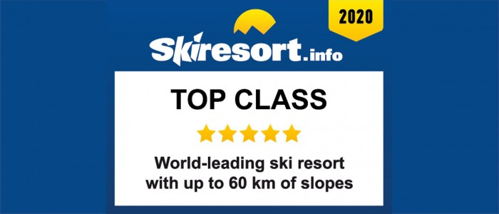 World Leading Ski Resort with up to 60 km Slopes