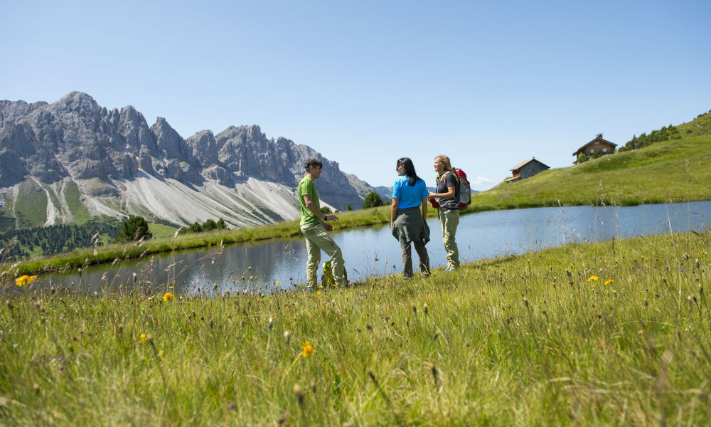 Hiking in the Dolomites. Plose